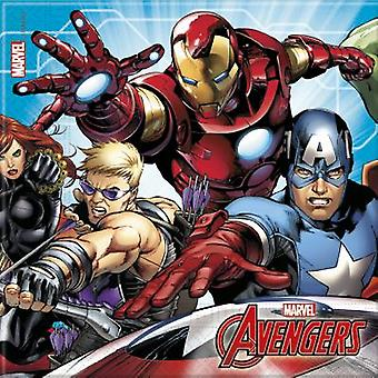 Mighty Avengers superhero party napkins 33 x 33 cm 20pcs children birthday theme party