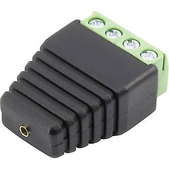 Conrad Components 93013c1122 Jack socket Connector, straight Pin diameter: 2 mm Black 1 pc(s)