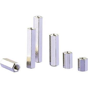 Spacer 2x Internal thread M3 Brass Distance 7.5 mm 1 pc(s)