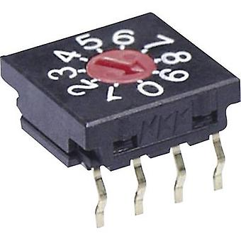 NKK Switches FR01FR10P-S Rotary switch 50 Vdc 0.1 A Switch postions 10 1 pc(s)