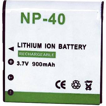 Camera battery Conrad energy replaces original battery NP-40 3.7 V