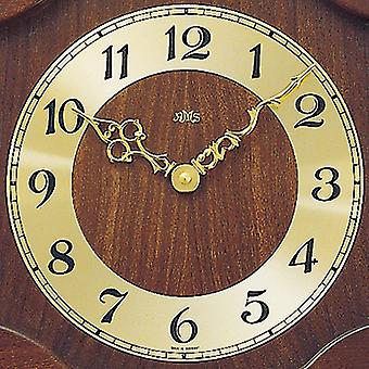 Wood wall clock quartz clock with pendulum wooden cabinet Walnut color finish