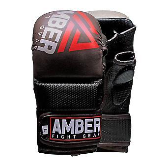 AFG Contender Sparring MMA handske ægte læder Hybrid kæmper kampsport Sparring boksebold bur kæmper Maya Skjul læder luffer UFC kamp uddannelse Open Palm halv tommelfinger