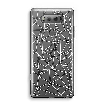 LG V20 gennemsigtig sag (Soft) - geometriske linjer hvid