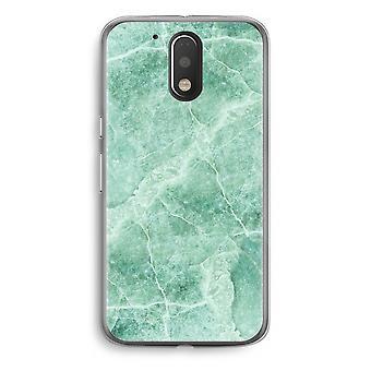Motorola Moto G4/G4 Plus Transparent Case - Green marble