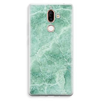 Nokia 7 Plus Transparent Case - Green marble