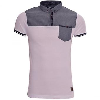 Brave Soul New Men's Designer Brave Soul Collar Polo T Shirt Smart Casual With Chest Pocket