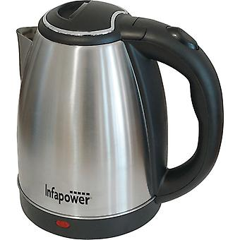 Infapower X503 1.8L 360 Degree Cordless Electric Kettle 1800w - Stainless Steel
