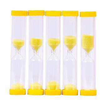 Bigjigs giocattoli educativi giallo 3 minuti temporizzatore della sabbia (confezione da 5) imparare orologio