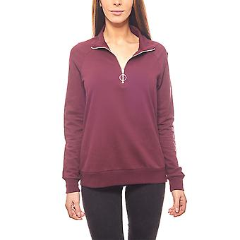 Noisy may stylish ladies sweater with zip violet
