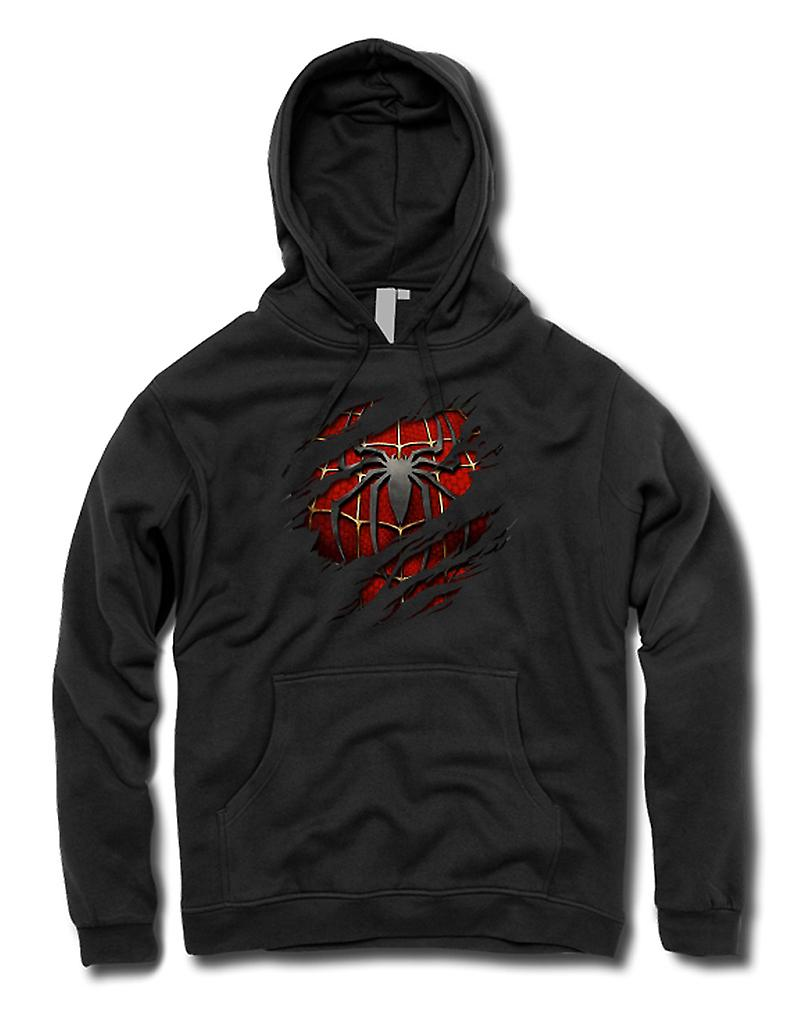 Kids Hoodie - Spiderman Under Shirt Effect - Action Superhero