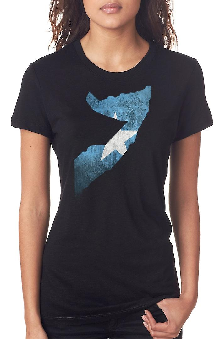 Somalia Flag Map Ladies T Shirt