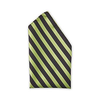 Handkerchief black green striped business Fabio Farini Strip noble shine