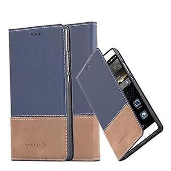 Cadorabo case for Huawei P8 - mobile case with stand function and card cover from an artificial leather suits - case cover sleeve pouch bag book