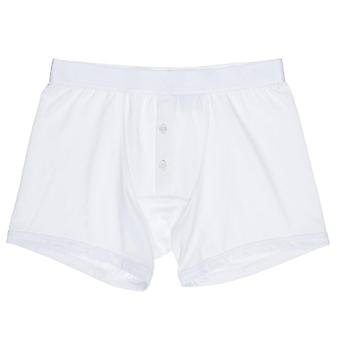 Hom Classic Boxer Briefs With Buttons - White