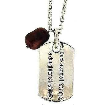 TOC 'Dad: A Sons 1st Hero, A Daughters 1st Love' Dog Tag Necklace 18