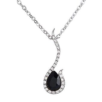 Annaleece Black & Clear Crystals Pendant on 16