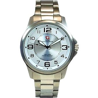 Swiss Mountaineer 100M Water Resistant White Dial Mens Watch SMW001