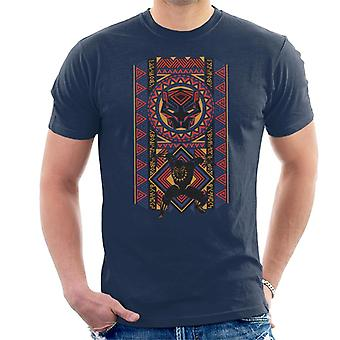 Marvel Black Panther Wakanda African Style Pattern Men's T-Shirt
