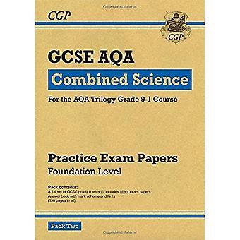 Nuevo grado 9-1 GCSE combinado ciencia AQA práctica papeles: Fundación Pack 2