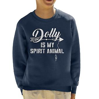 Dolly Parton Is My Spirit Animal Kid's Sweatshirt