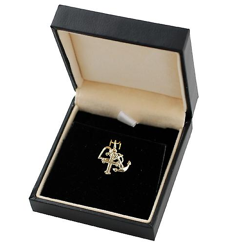 9ct Gold 10x8mm Faith Hope and Charity Charm