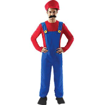 Mens Super Mario Novelty 80s Video Game Stag Night Fancy Dress Costume