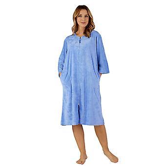 Slenderella HC3306 kvinders vævet kåbe Housecoat slåbrok