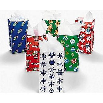 GREAT VALUE - 144 Christmas Paper Party Bag Assortment | Gift Wrap Supplies