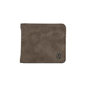 Volcom Wallet With CC, Note and Coin Sections ~ Slimstone pewter