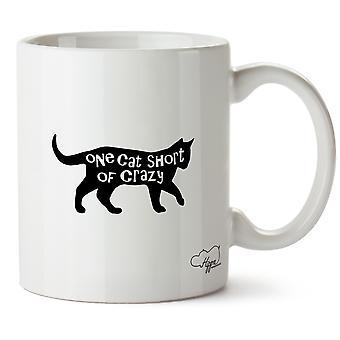 Hippowarehouse um gato menos louco impressa caneca copo cerâmico 10 oz