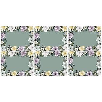 Pimpernel Atrium Floral Placemats, Set of 6