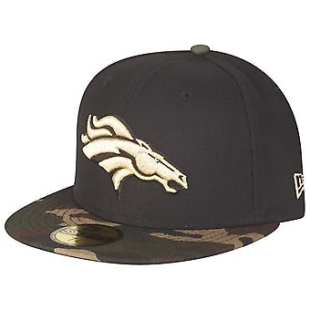 low priced 4b549 ed904 New era 59Fifty Fitted Cap - GOLD Denver Broncos camo