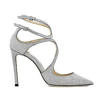 Jimmy Choo Lancer 100 Silver Leather Pumps