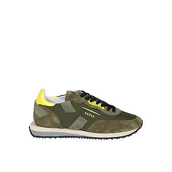 Ghoud Green Suede Sneakers
