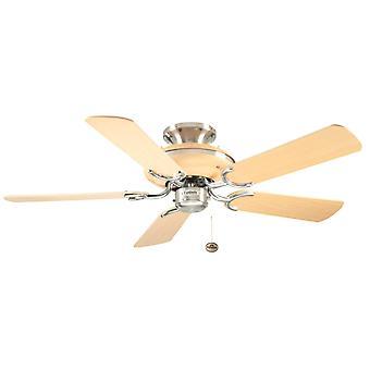 Ceiling Fan Mayfair Steel / Beech 107cm / 42
