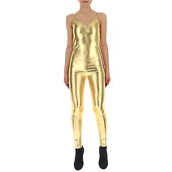 Amen Gold Polyester Jumpsuit