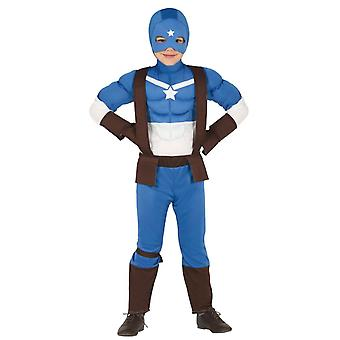 Chicos capitán superhéroe traje de disfraces