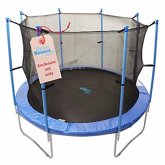 Upper Bounce 8 Pole Trampoline Enclosure Set to fit 12 FT. Trampoline Frames with set of 4 or 8 W-Shaped Legs (Trampoline Not Included)