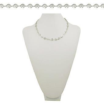 Éternelle Collection Grecian maillon clé grecque 18 pouces couleur argent collier rond
