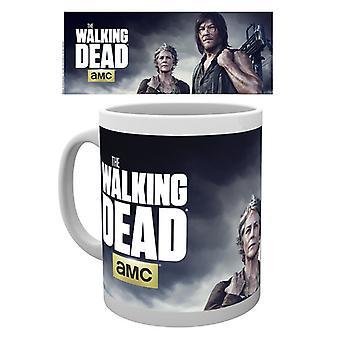 Die Toten Carol Wandern und Daryl geschachtelt Trink Becher