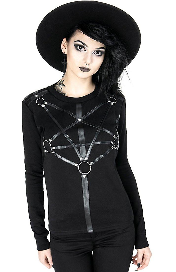 Restyle - pentagram jumper - femmes& 039;s chandail with harnesses