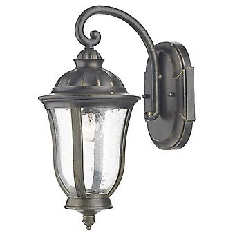 Johnson Wall Bracket Lantern Black Gold Ip44