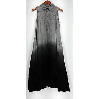 OSO Casuals Kleid Hi Lo woven Dip Dye Shirt Kleid grau Womens A432923