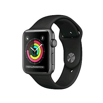 Apple watch series 3 gps case 38mm aluminum grey sidereal with strap sport black band