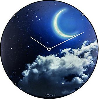Nextime New dome glass moon dome wall clock (Decoration , Clocks)