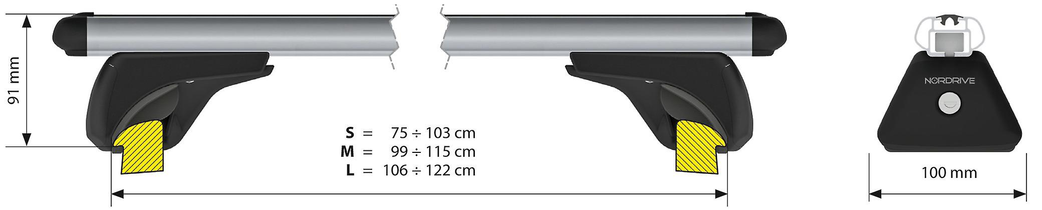 Aluminium Roof Bars For Ford Edge 2015-2018 with Solid Roof Rails