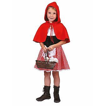 Lil Red Dress Children Costume Girl Carnival Red Riding Hood Costume Kids Carnival Fairytale