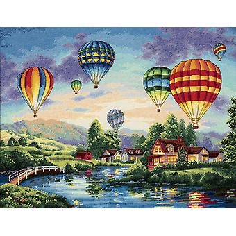 Gold Collection Balloon Glow Counted Cross Stitch Kit 16