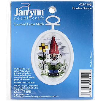 Gnome Mini Counted Cross Stitch Kit-2.75